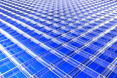 Blue 3D background. Blue 3D area available for background Royalty Free Stock Photos