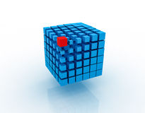 Blue 3D Blocks Royalty Free Stock Photography