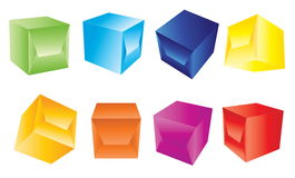 Blue 3d boxes Royalty Free Stock Photos