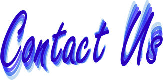 Blue 3D Contact Us wording Royalty Free Stock Photography