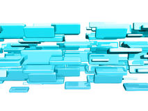 Blue 3d cubes Royalty Free Stock Photos