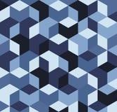 Blue 3D cubes Stock Photo