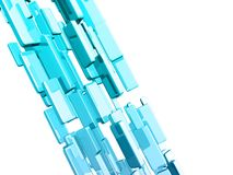 Blue 3d cubes with glossy light effects Royalty Free Stock Images