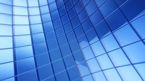 Blue 3d futuristic cube abstraction background Royalty Free Stock Images