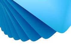 Blue 3D layered background. Abstract blue 3D layered background with white copy space Stock Photography