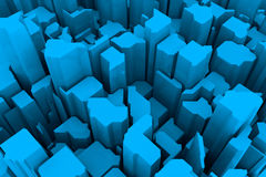 Blue 3d pattern Stock Images