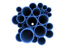 Blue 3d pipes Royalty Free Stock Image