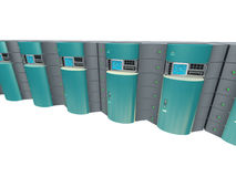 Blue 3d servers stock photo