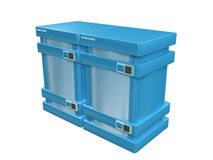 Blue 3d servers #2a.  Royalty Free Stock Photography