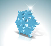 Blue 3D snowflake Royalty Free Stock Photo