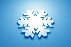 Blue 3D snowflake Royalty Free Stock Images