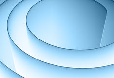Blue 3d spiral Stock Images