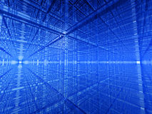 Blue 3d structure. Blue abstract 3d cube structure Stock Photos