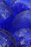 Blue. Abstract of blue glass balls Stock Image