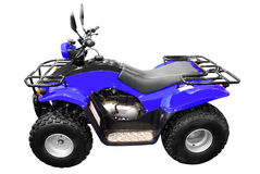 Blue 4x4 quad-bike atv isolated Stock Photo