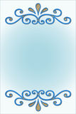 Blue. A blue radial bordered with wooden frame in blue Stock Images