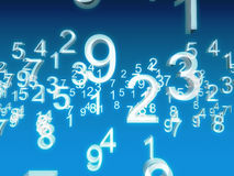 Blue. White numbers on blue background Royalty Free Stock Photos