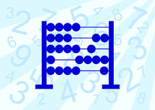 Blue abacus. On a blue background stock illustration