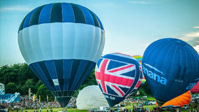 Blue ABC Flights balloon Royalty Free Stock Images