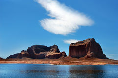 Blue above and below on Lake Powell Royalty Free Stock Image