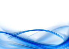 Blue abstract. Composition with flowing design stock illustration