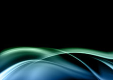 Blue abstract. Composition with flowing design Royalty Free Stock Images