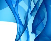 Blue abstract. Backlit of iregular shapes in blue color Stock Photos