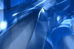 Blue abstract 3d render Royalty Free Stock Photography