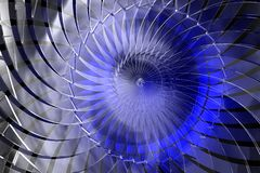 Blue abstract 3D space Royalty Free Stock Photos