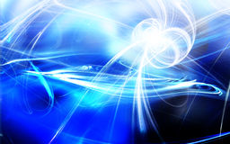 Blue Abstract. Computer generated render blue Abstract - very vivid colors Royalty Free Stock Photos