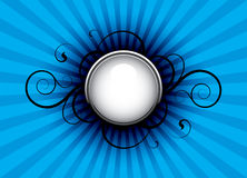 Blue abstract. Abstract with decorative elements on a blue background Stock Image