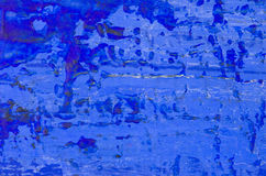 Blue abstract acrylic painting. A blue abstract acrylic background Stock Photography