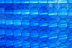 Blue abstract acrylic pipes Royalty Free Stock Photos