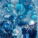 Blue abstract air bubbles background Royalty Free Stock Image