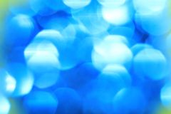Blue - Abstract Art of Color and Background Blur Stock Images