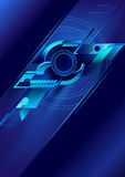 Blue abstract background. Techno background of blue colour vector illustration