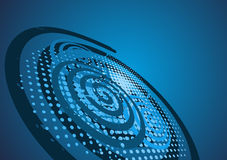 Blue abstract background. With and  spirals and halfton Stock Image