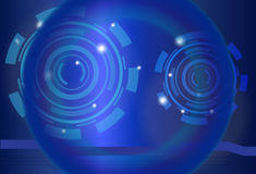 Blue abstract background. Abstract background with circular shapes in blue Stock Photos