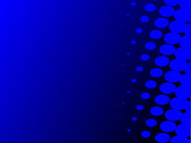Blue abstract background. Concept with some elements Royalty Free Stock Photo