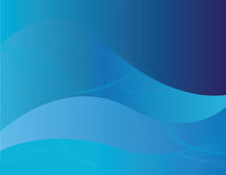 Blue abstract background. With blue waves Stock Images