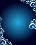 Blue abstract background with arrows Stock Photos