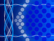 Blue abstract background, circles and form Stock Photography