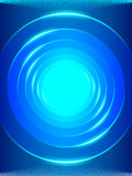 Blue abstract background with circles Stock Photography