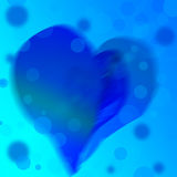 Blue abstract background of color heart. Valentine day Stock Image