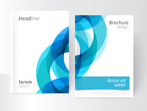 Blue abstract background/ cover template Royalty Free Stock Photo