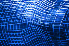 Blue abstract background with curved lines Stock Image