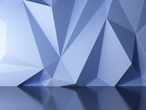 Blue abstract background. 3d render of blue abstract background Stock Images