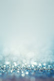 Blue  abstract background with defocused sparkle lights and boke Royalty Free Stock Photo
