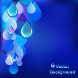 Blue Abstract Background With Drops. Vector Stock Photo