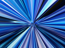 Blue abstract background. With expanding rays from the center Royalty Free Stock Photo